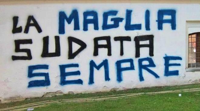 La scritta sul muro del Lazzaretto