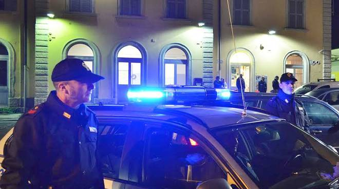 Polizia alla stazione di Treviglio