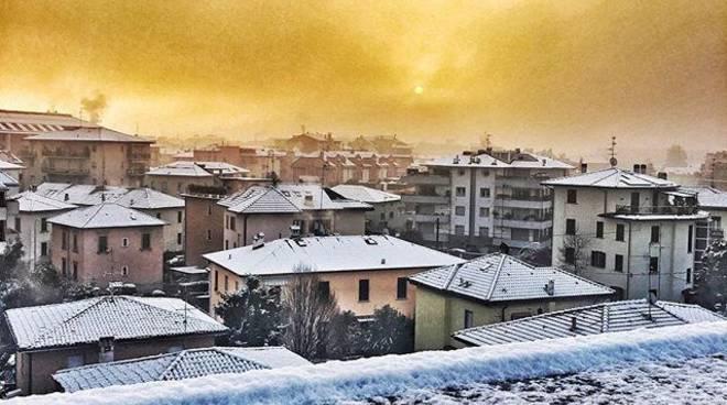 neve bergamo 3 gennaio