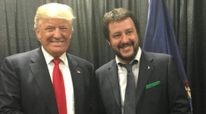 """Matteo Salvini incontra Donald Trump: """"Forza Matteo, sarai il prossimo  premier"""" - Bergamo News"""