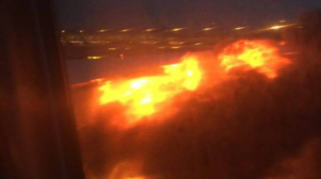 aereo brucia