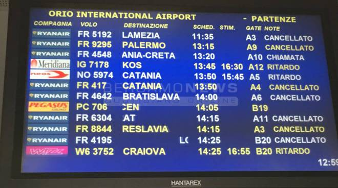 Aeroporto ritardi