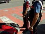 Auto contro moto in via Maj