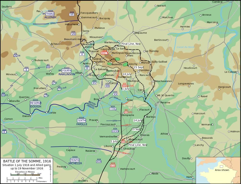 La prima battaglia della Somme