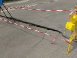 Nubifragio a Bergamo, i danni in largo Barozzi