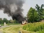 furgone fiamme cologno