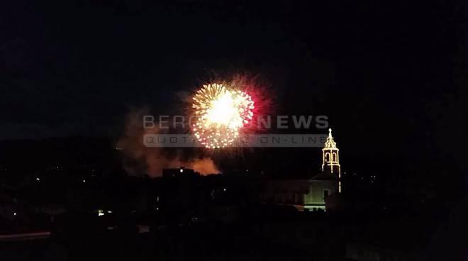 Fuochi d'artificio a Bergamo