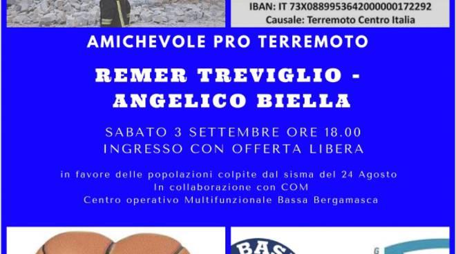 Amichevole Remer per terremotati