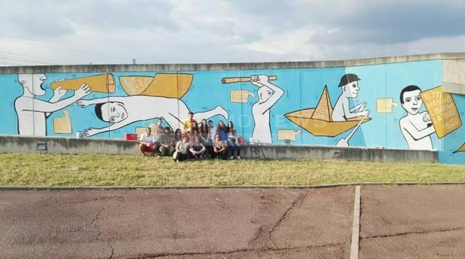 Arcene, spunta un altro murale ispirato alla Costituzione