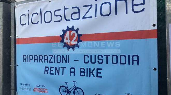 Bergamo, inaugurata la nuova Ciclostazione 42 su Piazzale Marconi fotogallery