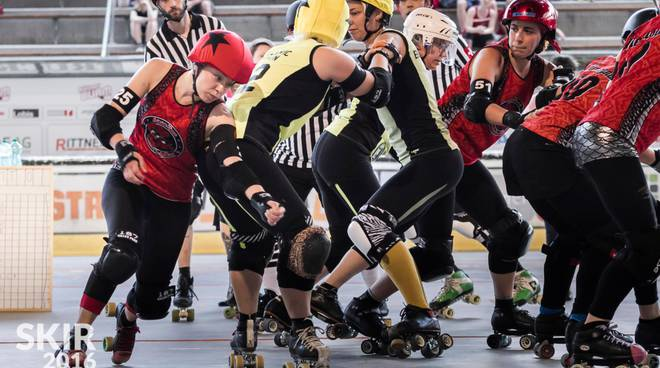 Roller derby, le bergamasche Crimson Vipers affrontano le berlinesi Breaking Bers
