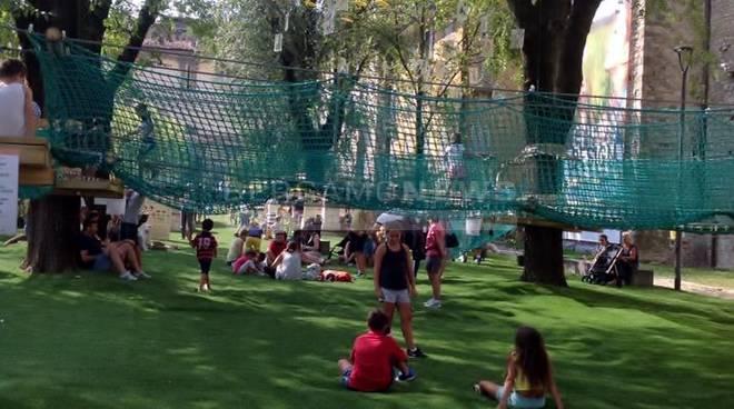 """""""Troppa gente, le pedane non sono sicure"""": chiude il Parco avventura di Città Alta"""