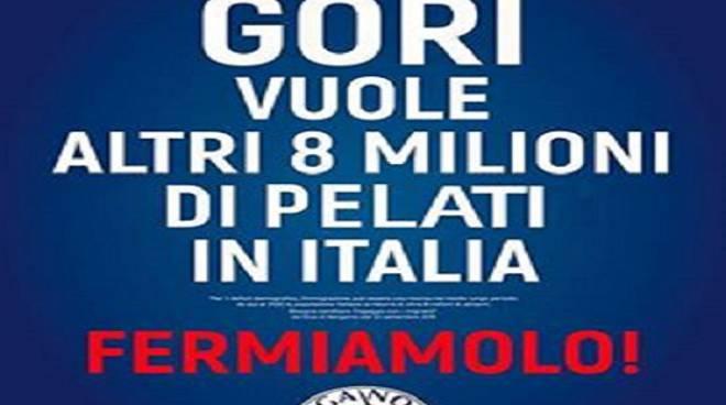 """Manifesti leghisti, L'ironia del Pd: """"Gori vuole altri 8 milioni di pelati in Italia"""""""