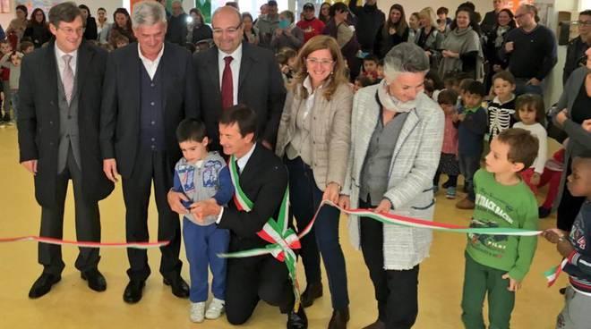 Ristrutturata e inaugurata la scuola per l'infanzia Munari a Redona