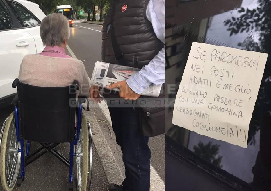 suv marciapiede disabili