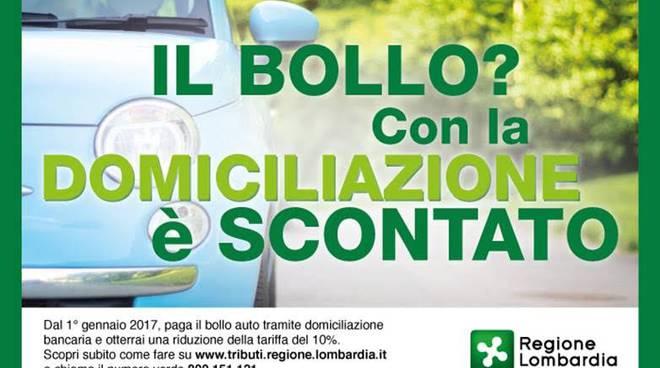Bollo auto, sconto 10% in Lombardia per scadenze entro 31/12