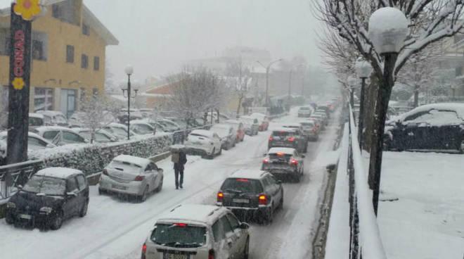 neve viabilità caos