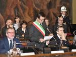 Riccardo Muti riceve la medaglia d'oro del Comune di Bergamo