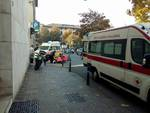 Scontro auto-moto a Bergamo: scattano i soccorsi