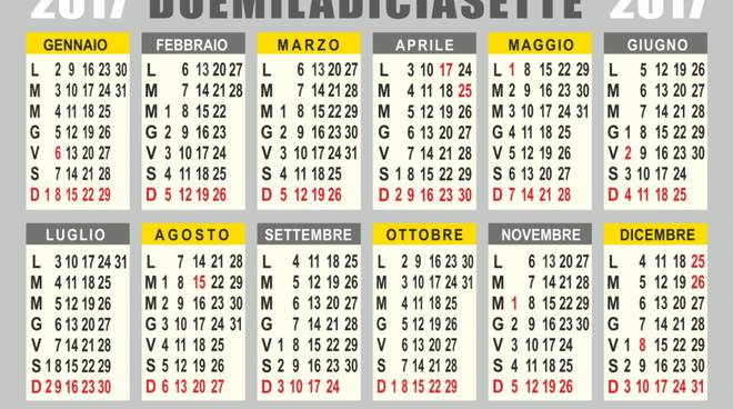 Calendario Con Festivita.Ponti E Festivita Non Male Nel 2017 Bergamo News