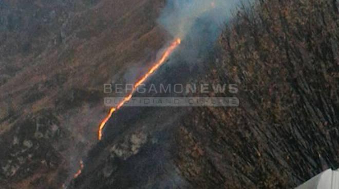 Incendio al Ponte del Costone