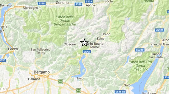 Lievissima scossa di terremoto nella notte in Valseriana ...