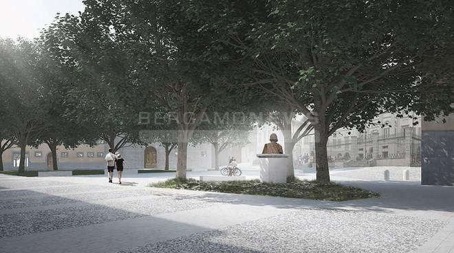 Accademia carrara e gamec ecco la nuova piazza a maggio for Galleria carrara bergamo