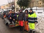 I volontari bergamaschi in Abruzzo