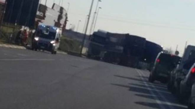 scontro camion mapello