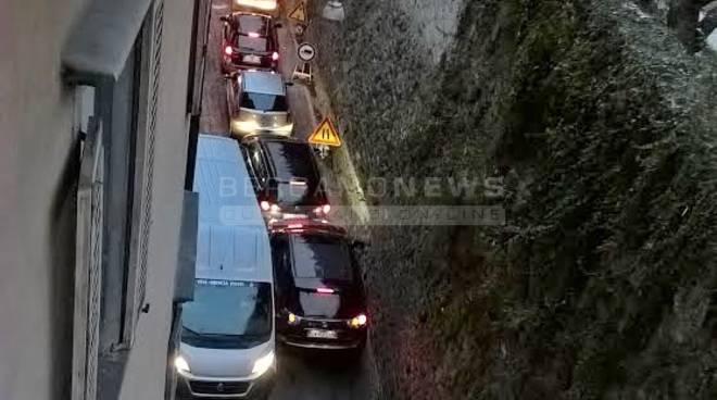 Traffico in via San Lorenzo