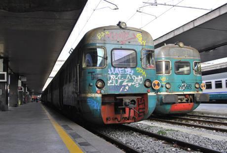 Vandali sui treni