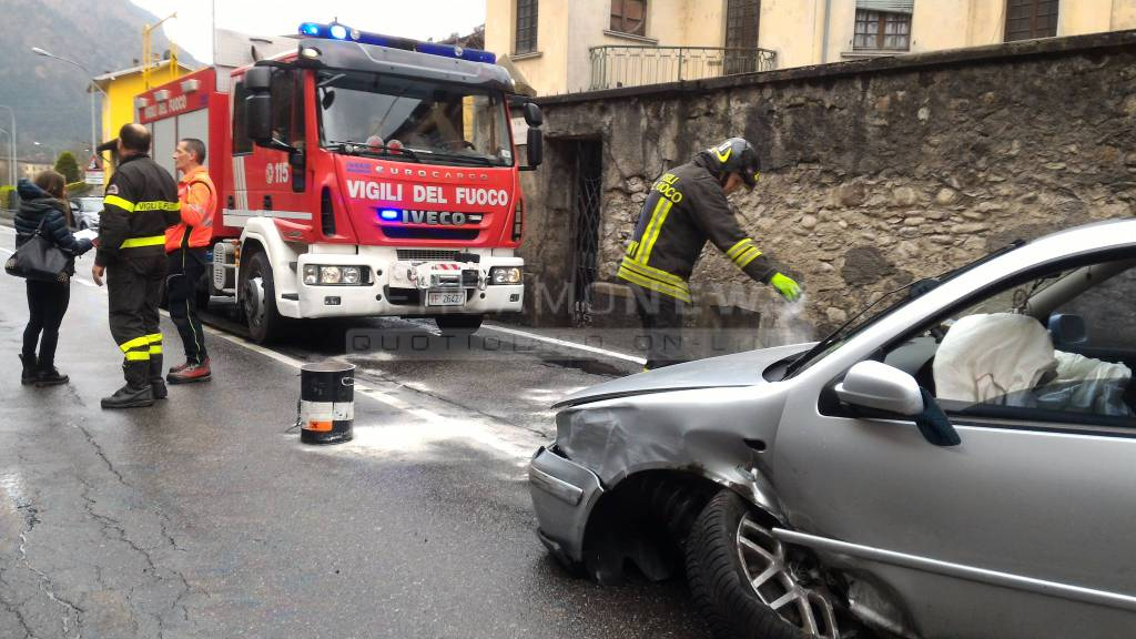 Incidente a Parre giovedì 23 marzo