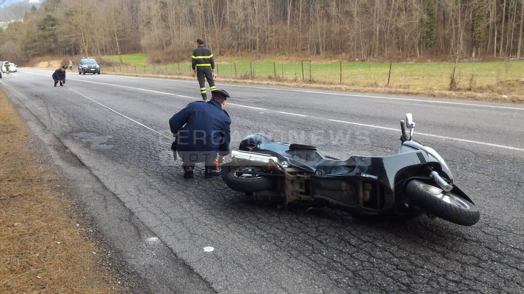 Incidente moto a Clusone