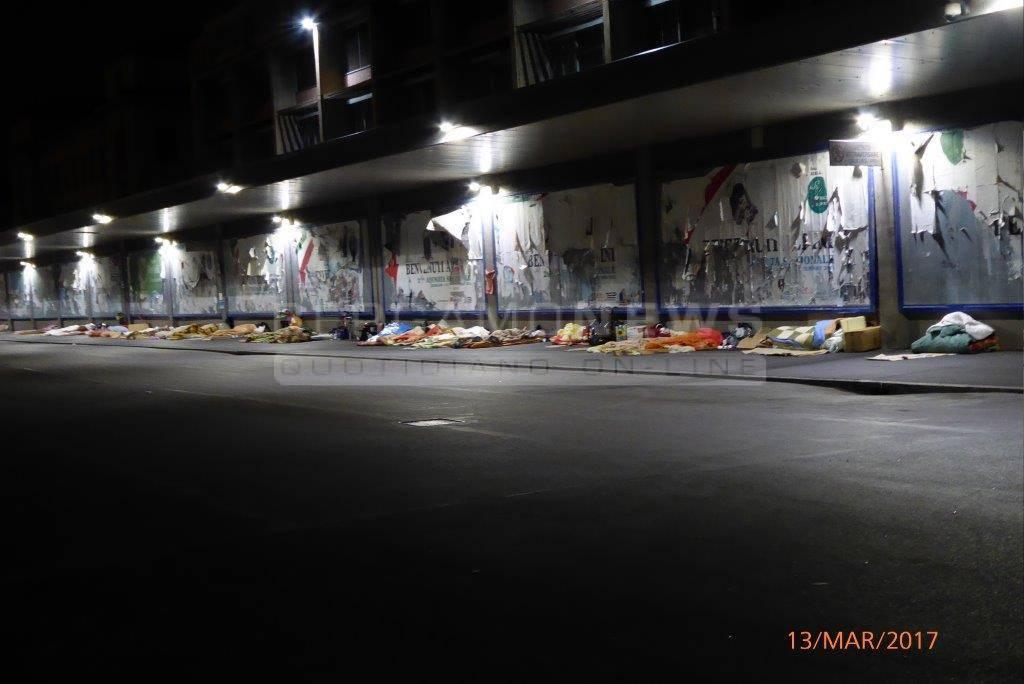 senzatetto stazione bergamo