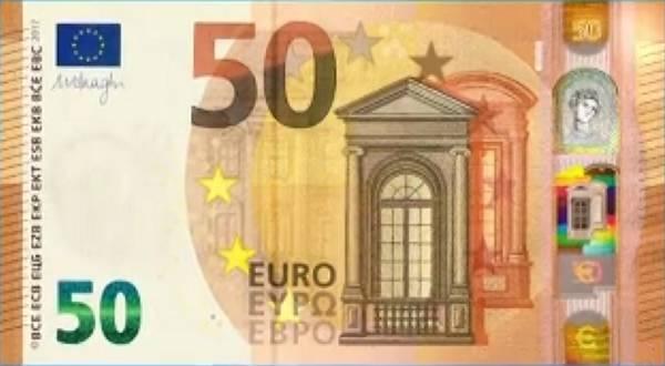 Da oggi in circolazione nuova banconota da 50 euro