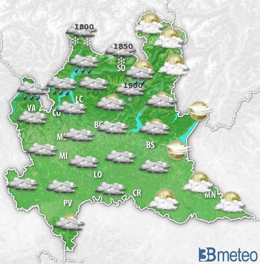 Lombardia meteo nuvole