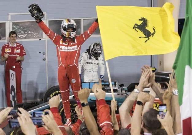 Vettel Ferrari barhain
