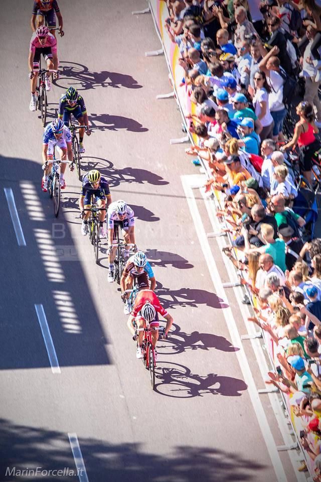 Il Giro d'Italia visto dall'alto