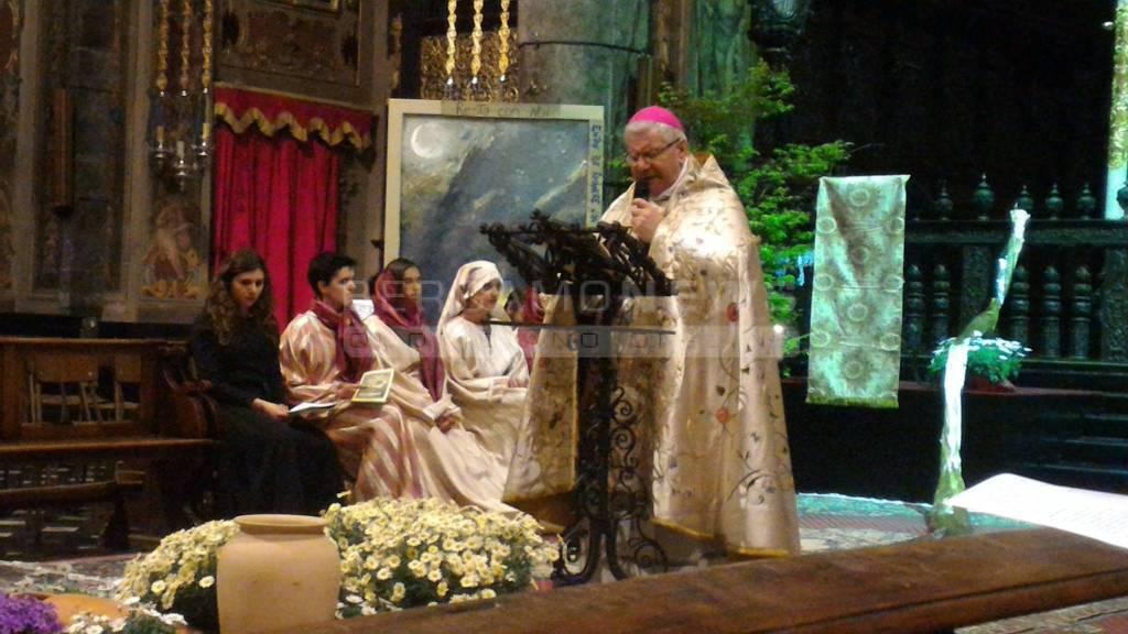Il vescovo Beschi a Gandino