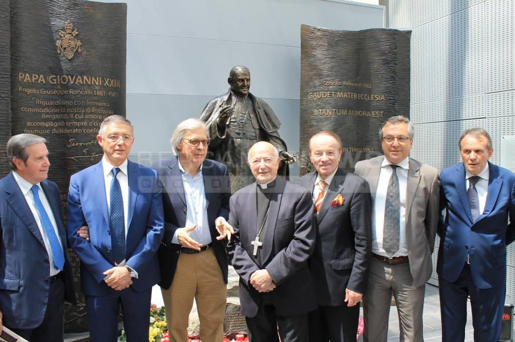 L'inaugurazione all'ospedale di Bergamo
