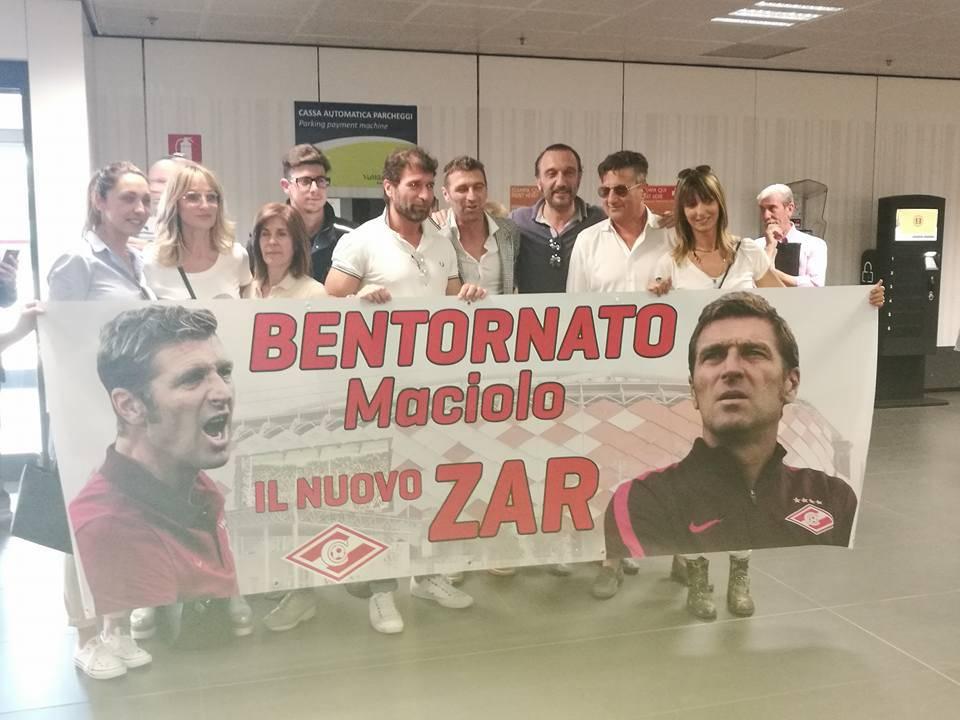 Massimo Carrera all'aeroporto di Orio
