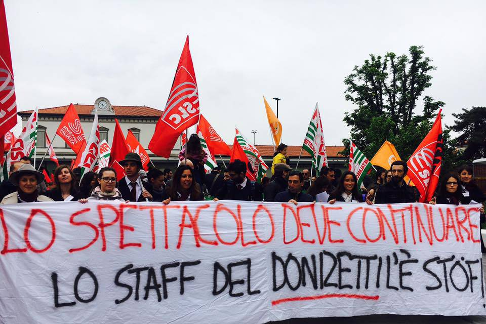lavoratori teatro donizetti