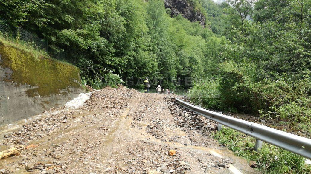 Frane e detriti in alta Val Seriana: riaperta la strada provinciale
