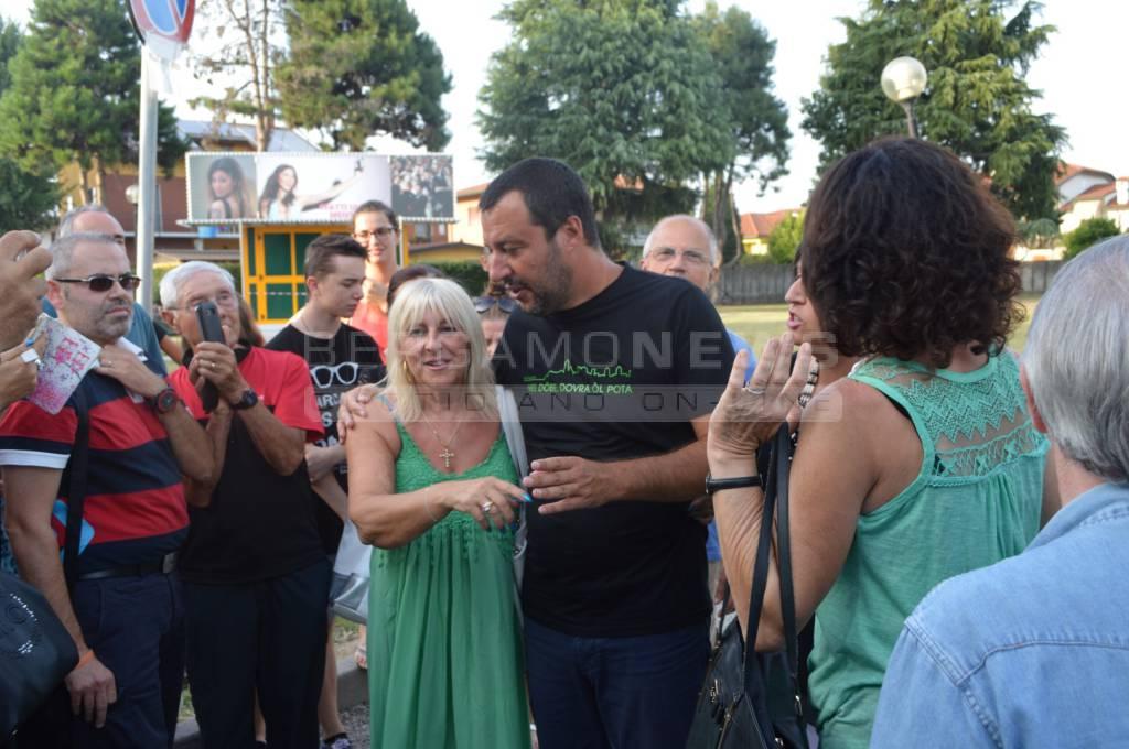 Matteo Salvini a Caravaggio