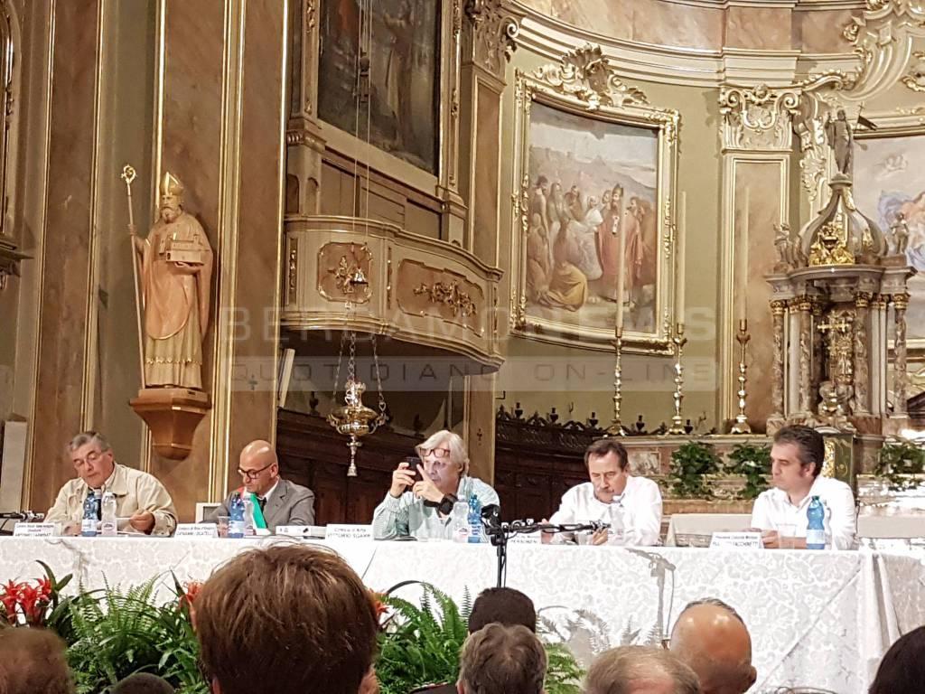 Vittorio Sgarbi a Rota Imagna