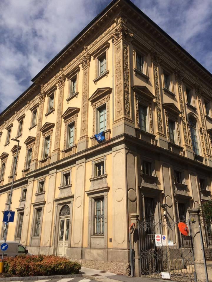 Palazzo della Provincia, bandiera Atalanta