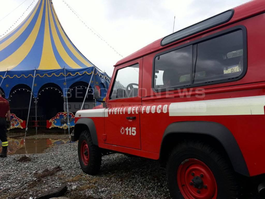 Il circo di via Lunga allagato