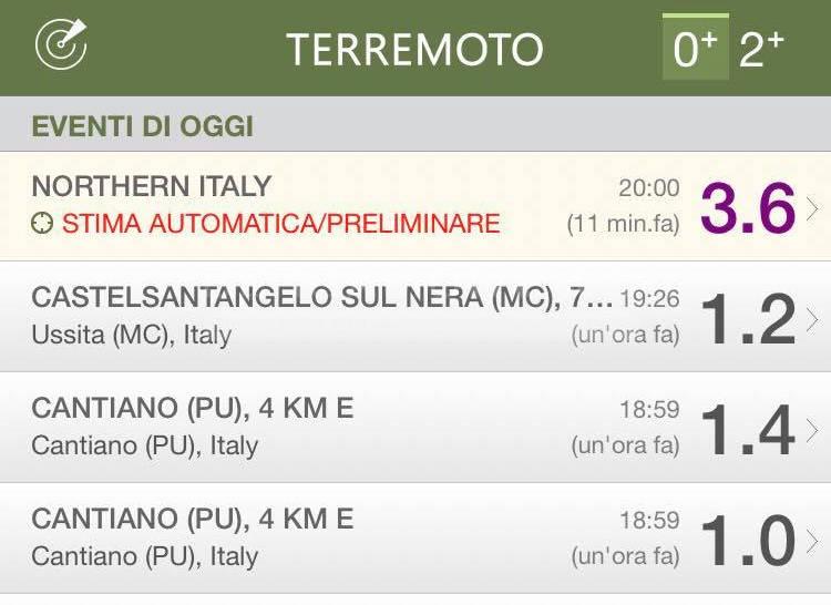 Terremoto in Nord Italia: forte scossa in Emilia e Liguria