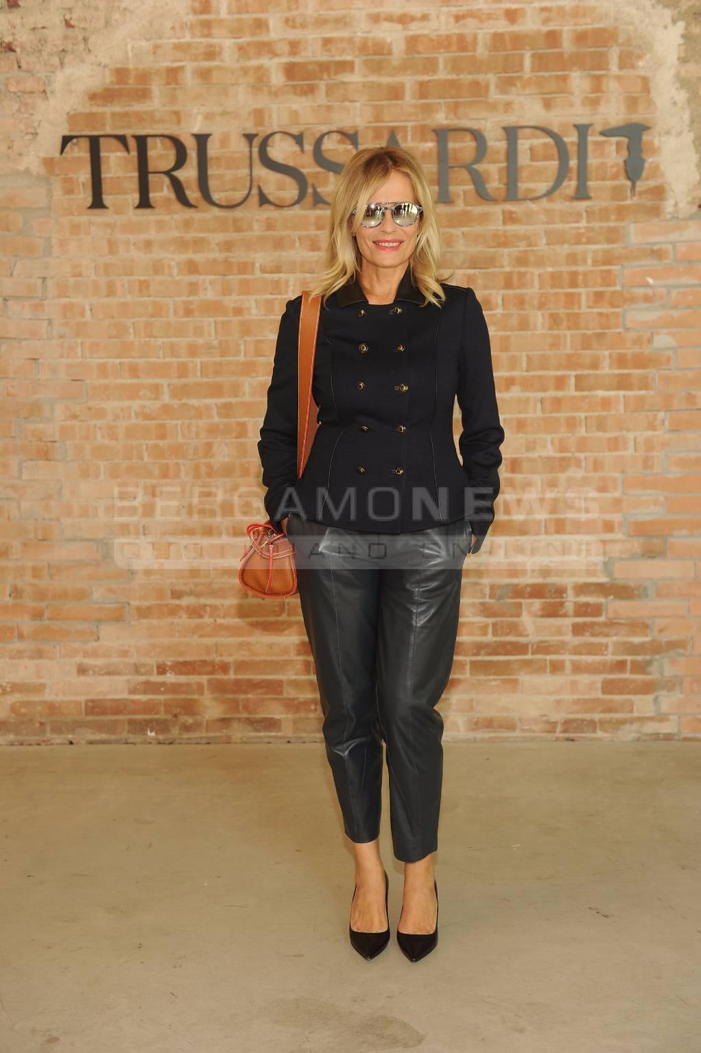 e26f33fa92 Il parterre alla sfilata di Trussardi per la Milano fashion week ...