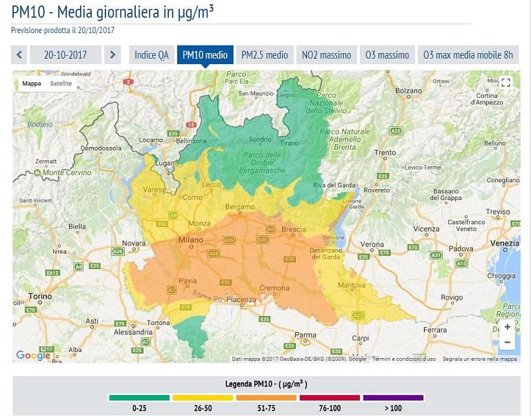 Cartina Inquinamento Lombardia.Allarme Smog A Bergamo La Mappa Dell Emergenza E I Consigli Per